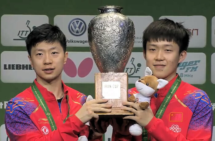 Ma Long and Wang Chuqin - Men's Doubles World Champions 2019