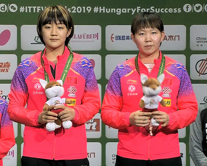 Bronze Medallists - Chen Meng and Zhu Yuling