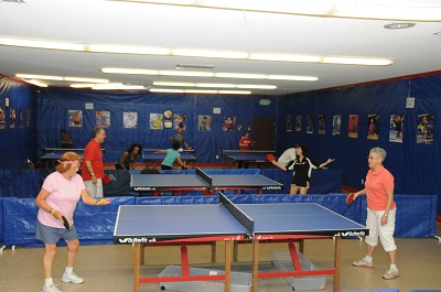 Seniors at Allen & Sons Table Tennis Club