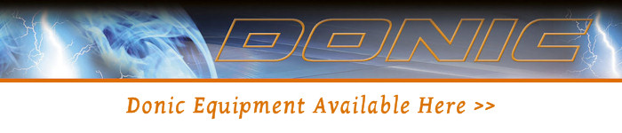 Donic table tennis equipment available here