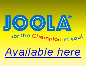 Joola table tennis equipment available here