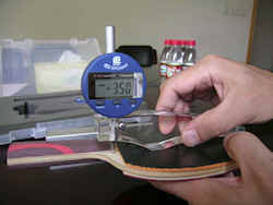 Table tennis bats - measure rubber thickness