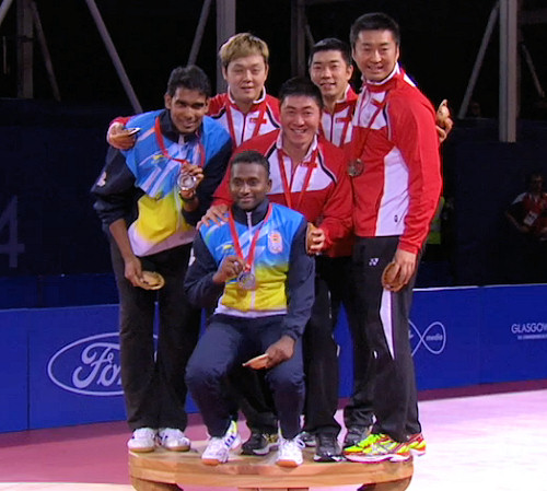 2014 Commonwealth Games Men's Doubles Medallists