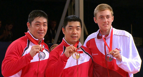 2014 Commonwealth Games Men's Singles Medallists
