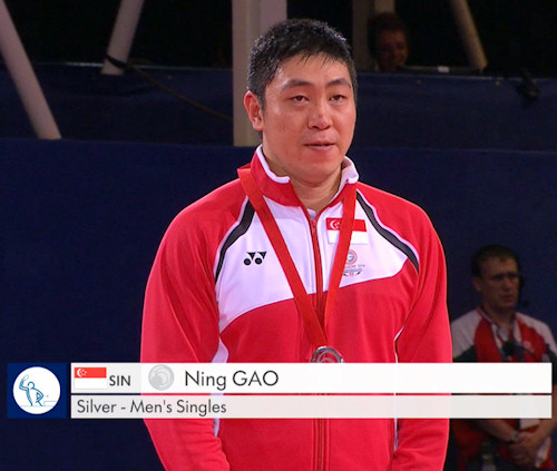 2014 Commonwealth Games Men's Singles Silver Medallist - Gao NING