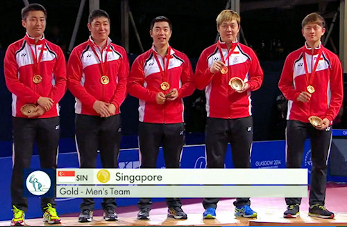 2014 Commonwealth Games Men's Team Gold Medallists - Singapore