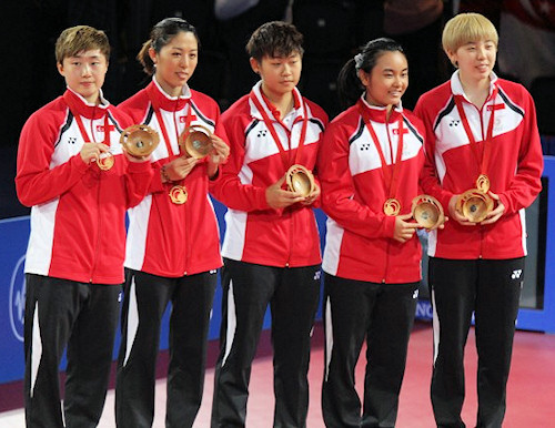 2014 Commonwealth Games Women's Team Gold Medallists - Singapore