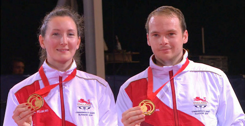2014 Commonwealth Games Mixed Doubles Gold Medallists - Paul and Joanna DRINKHALL (England)