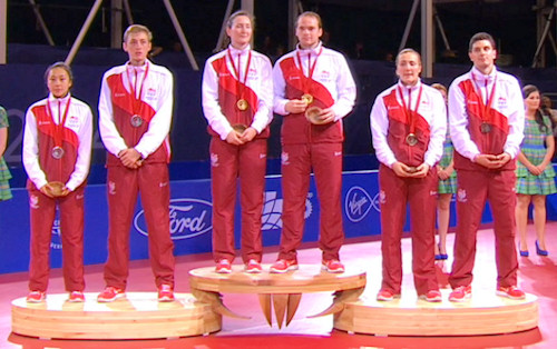 2014 Commonwealth Games Mixed Doubles Medallists - England