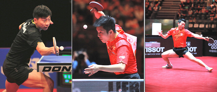 Chinese table tennis players