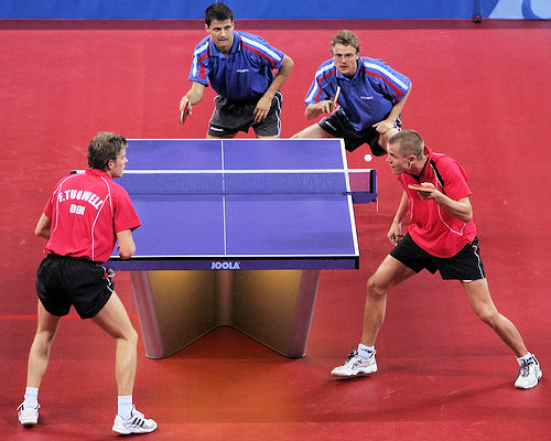 Table tennis doubles rules