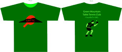 Green Mountain Table Tennis Club shirts