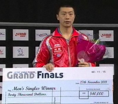 MA Long - Winner of the 2011 ITTF Pro-Tour Final