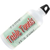 Water Bottle I Love Table Tennis, Vintage design 20oz / 600ML