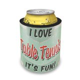 Slap Can Koozie I Love Table Tennis, Vintage design Insulator Cooler
