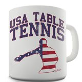 Twisted Envy USA Table Tennis Ceramic Novelty Gift Mug