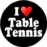 I Love Table Tennis 1.25inch Pinback Button Badge / Pin