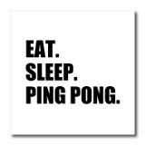 Eat Sleep Ping Pong - 6 x 6inch Iron on Heat Transfer for White Material