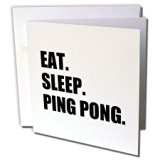 Eat Sleep Ping Pong - Greeting Card with envelope