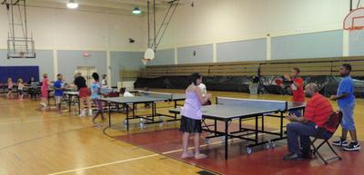 Competition at Pensacola Table Tennis Club