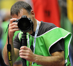 Table tennis photographer