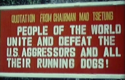 Chairman Mao quotation sign