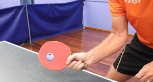 forehand table tennis grip