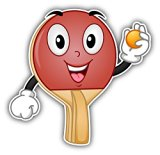 Table Tennis Racket Face Car Window Bumper Decal Vinyl Sticker 5inch x 5inch