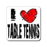 I Love Heart TABLE TENNIS - Window Bumper Laptop Sticker