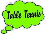 Thinking Dreaming of Table Tennis - Thought Bubble - Window Bumper Laptop Sticker