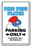 PING PONG PLAYER Novelty Sign gift table tennis ball paddle team champion