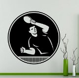 Table Tennis Player Wall Vinyl Decal - High Quality Vinyl Sticker