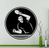 Table Tennis Player Wall Vinyl Decal - High Quality Vinyl Sticker
