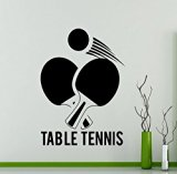 Table Tennis Logo Wall Vinyl Decal - High Quality Vinyl Sticker