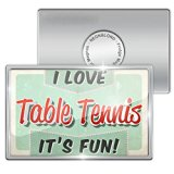 Fridge Magnet I Love Table Tennis, Vintage design