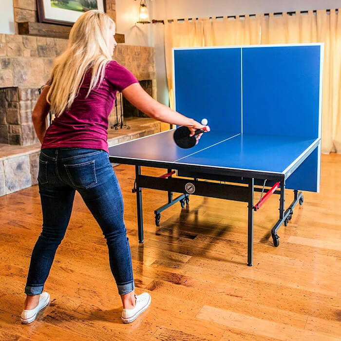 Stiga Advantage T8580w table tennis table in the playback position