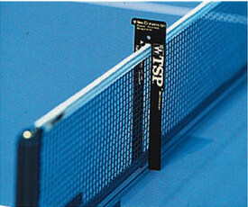 table tennis net gauge in use