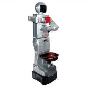 Traditional looking table tennis robot
