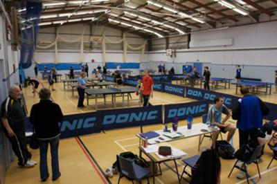 Competition in Waterside Table Tennis Centre