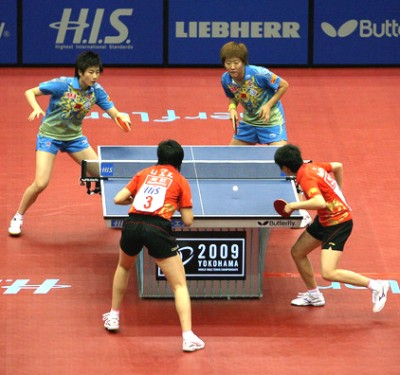 2009 World Championships - Womens Doubles finalists