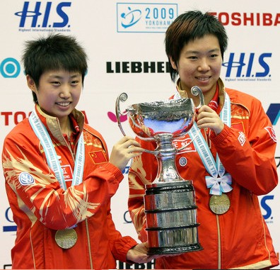 2009 World Championships - Womens Doubles Winners