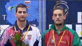 2011 European Championships - Mens Doubles Winners