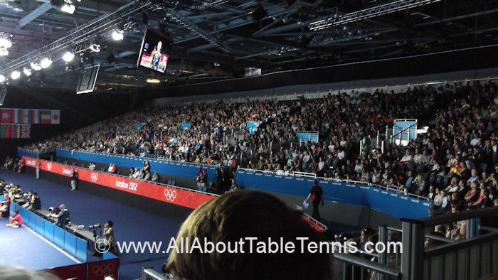 2012 Summer Olympics Table Tennis crowd
