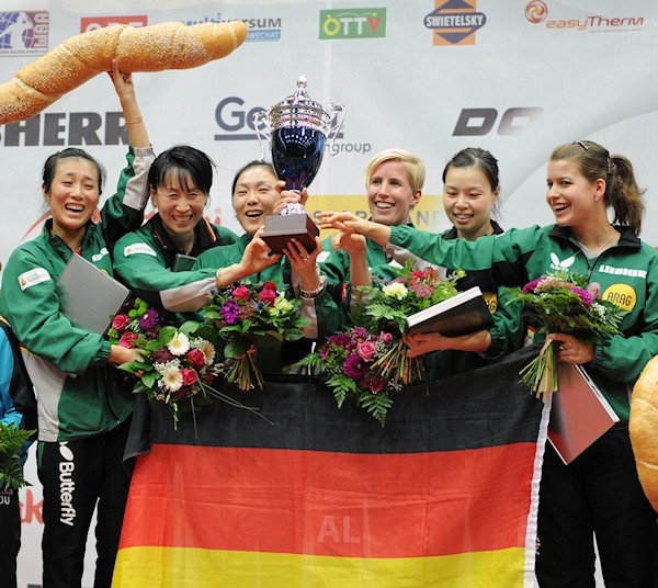 European Championships 2013 Women's Team Event winners