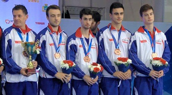 France - European Table Tennis Men's Team Bronze Medallists 2015
