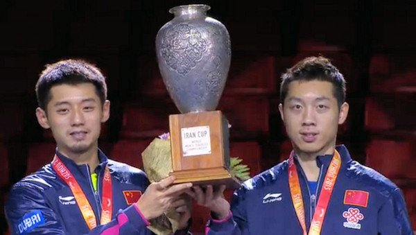 2015 World Championship Men's Doubles Champions - XU Xin & ZHANG Jike (China)