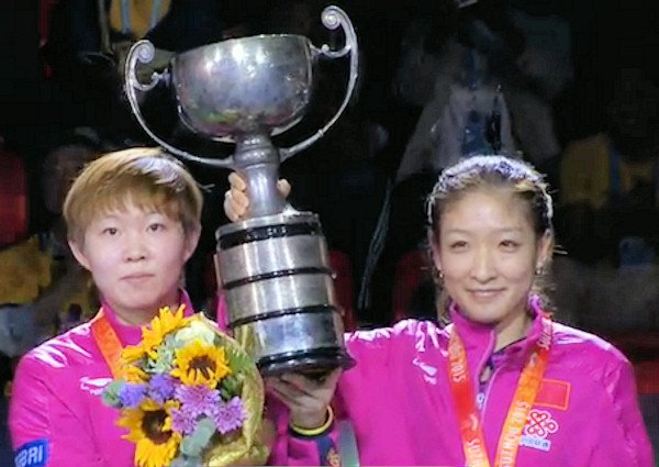 2015 World Championship Women's Doubles Champions - LIU Shiwen and ZHU Yuling