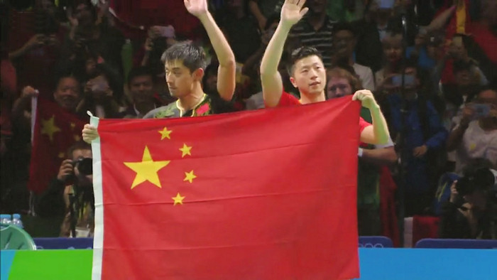 2016 Olympic Games Men's Singles Event finalists - Zhang Jike and Ma Long