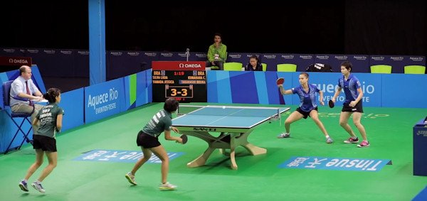 2016 Olympic Games Table Tennis Table provider is San-Ei