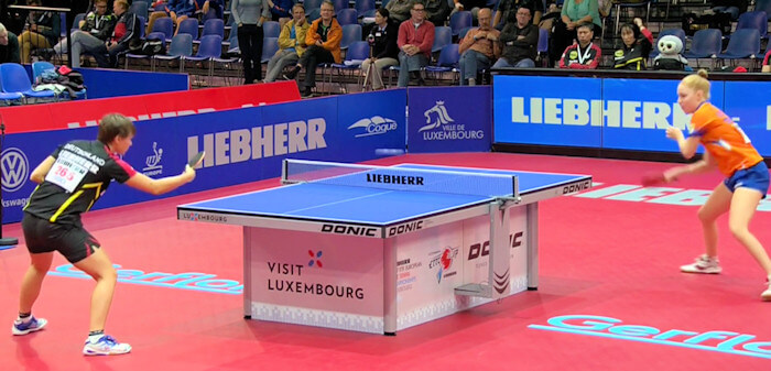 Nina Mittelham loses to Kim Vermaas but Germany still win the match